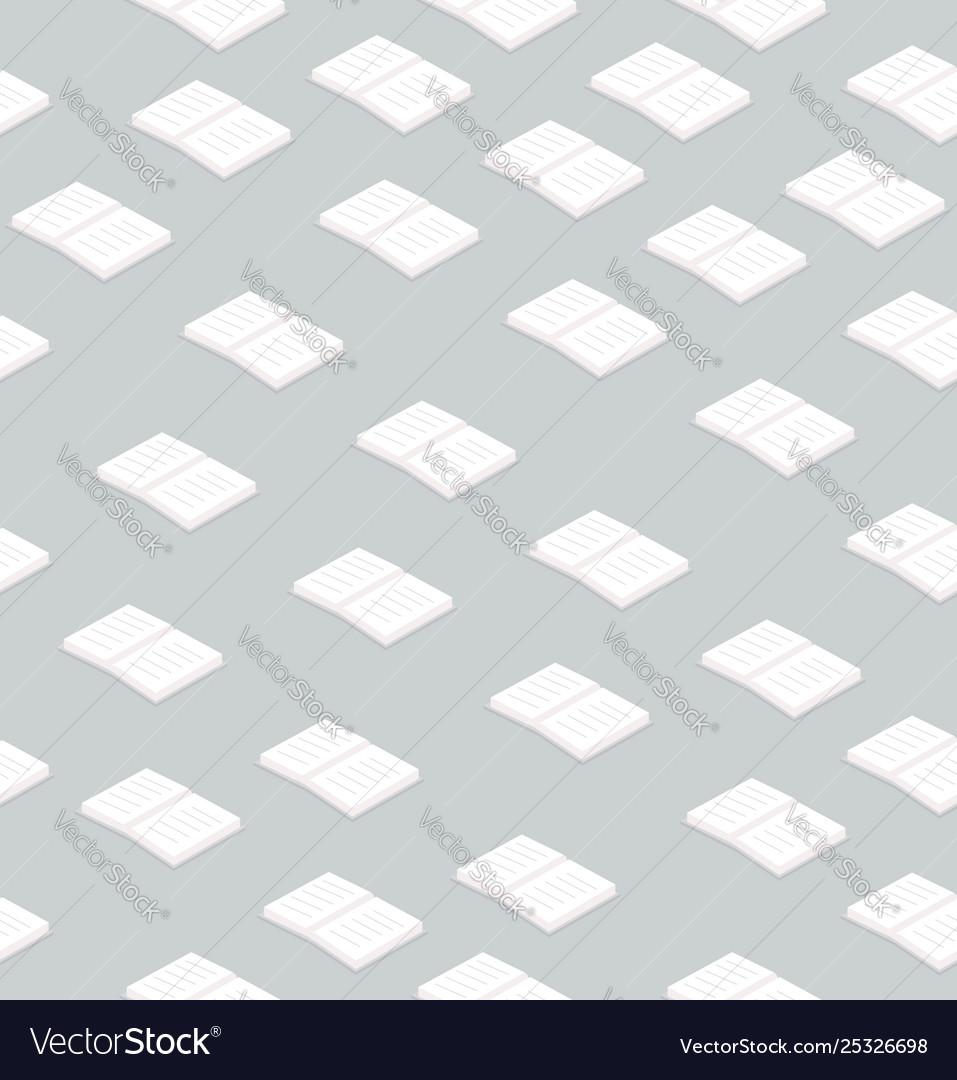 Books flat design seamless pattern