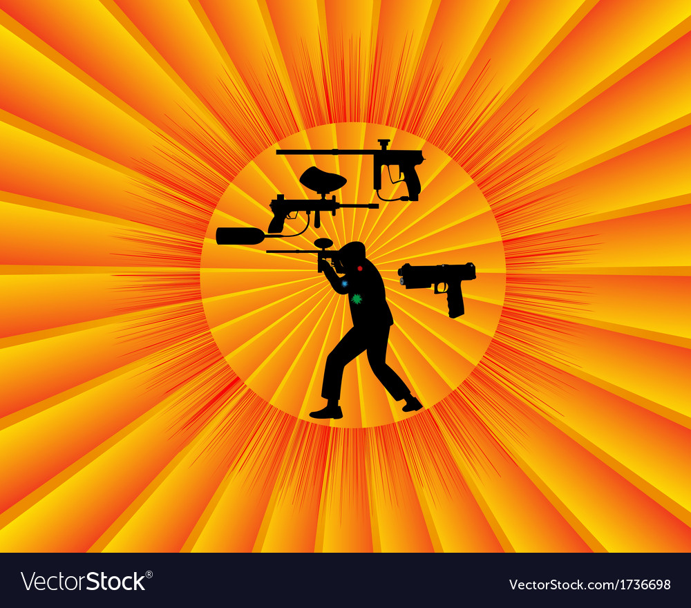 Paintball competition vector image