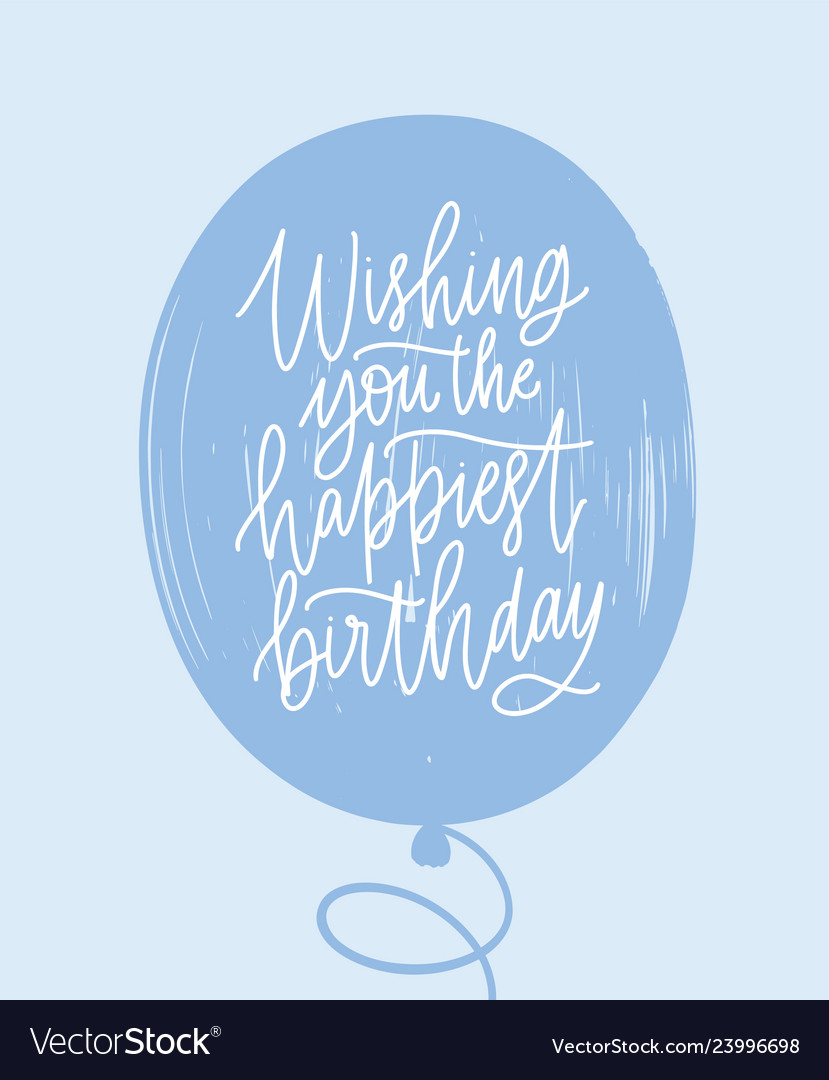 Simple greeting card template with birthday wish