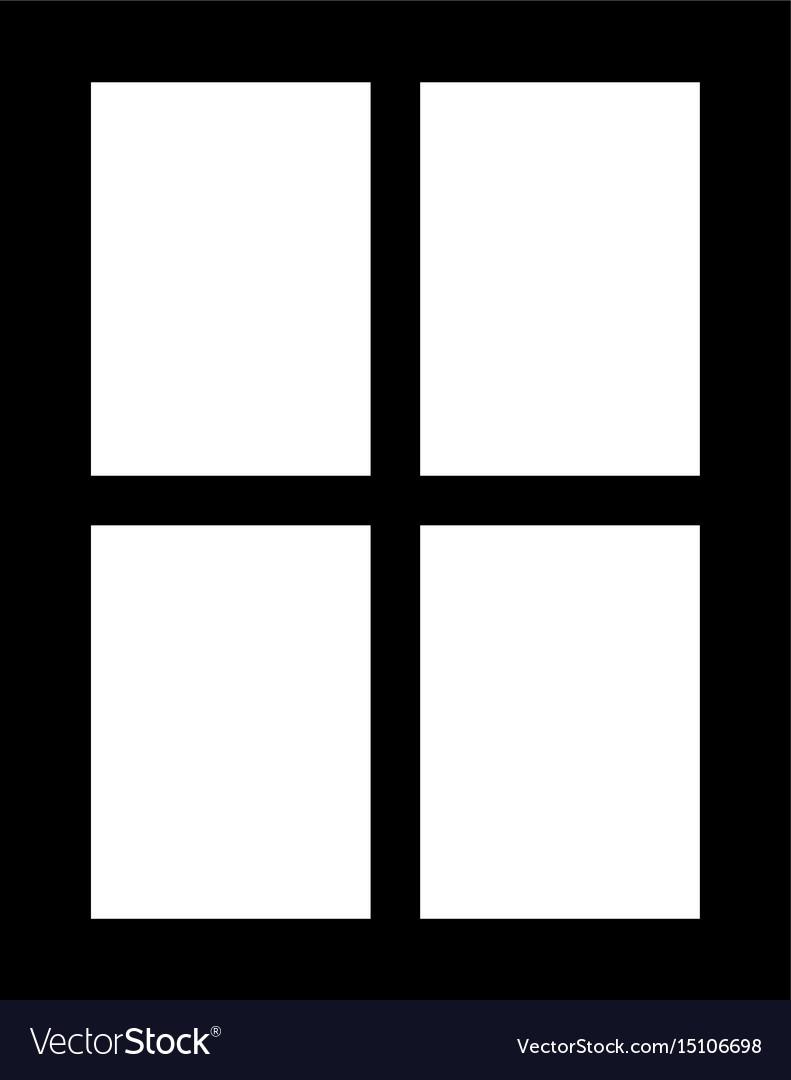 Window the black color icon