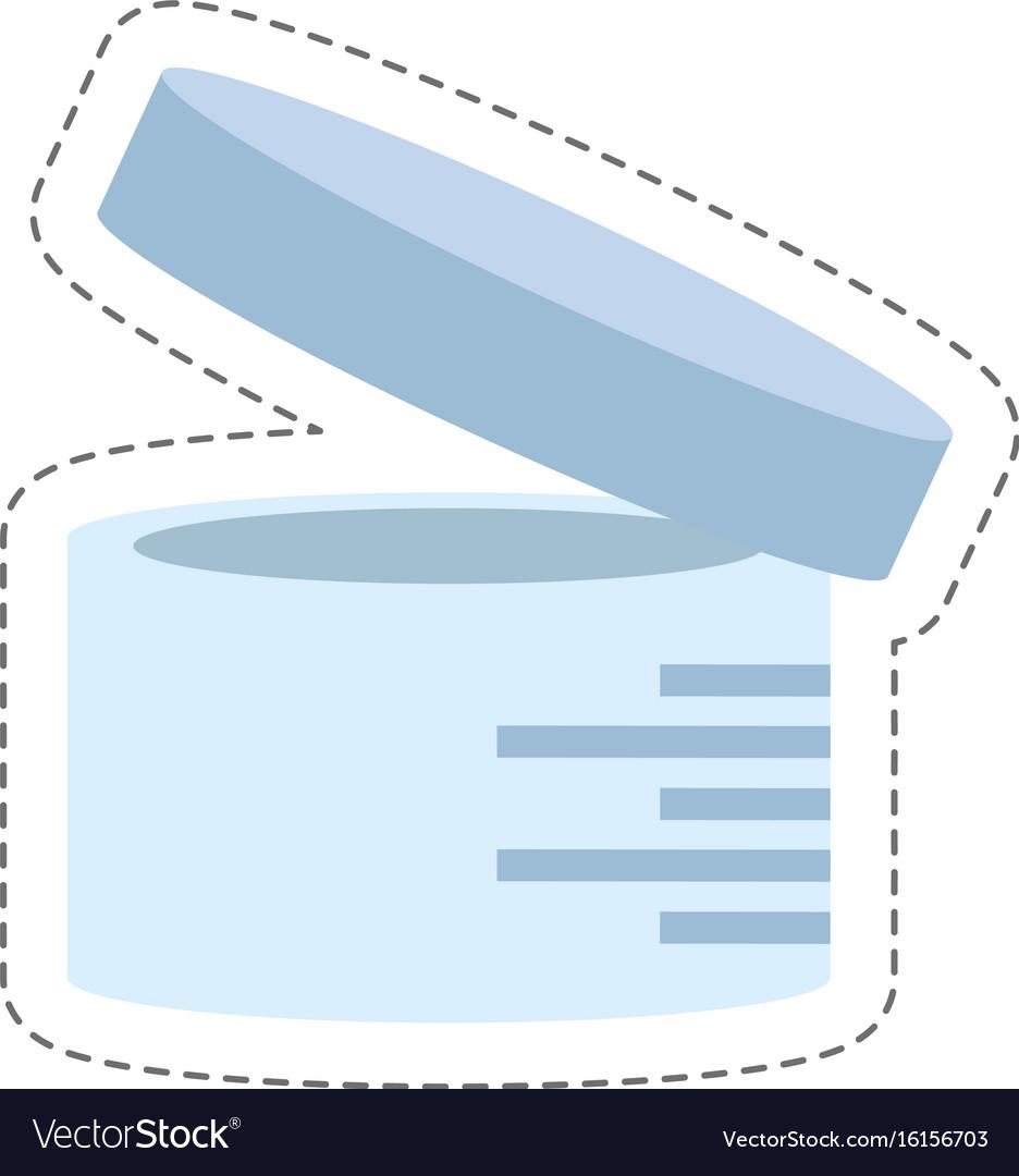cartoon urine sample container icon vector image