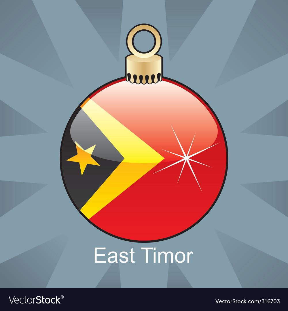 East Timor flag on bulb