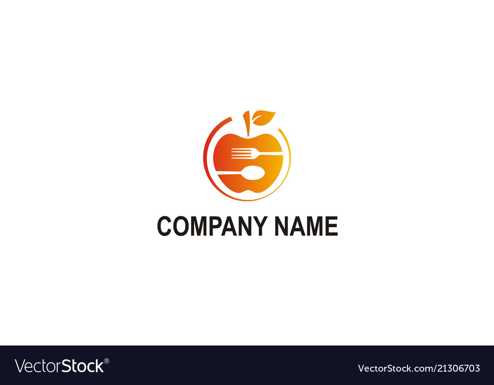 Fruit food vegetarian company logo