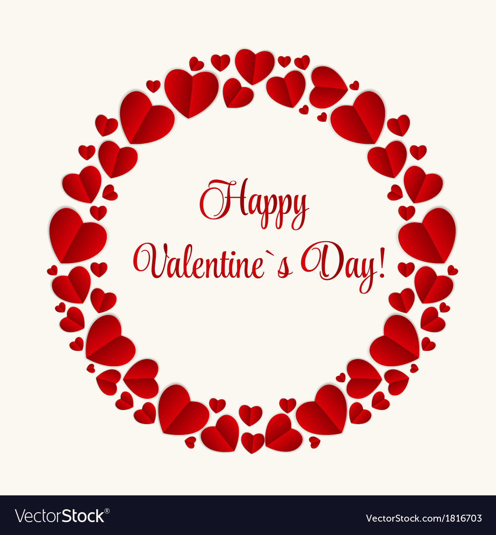 Happy valentines day card with heart royalty free vector happy valentines day card with heart vector image m4hsunfo