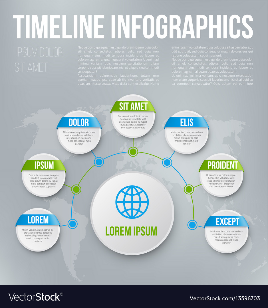 Infographics with steps or options