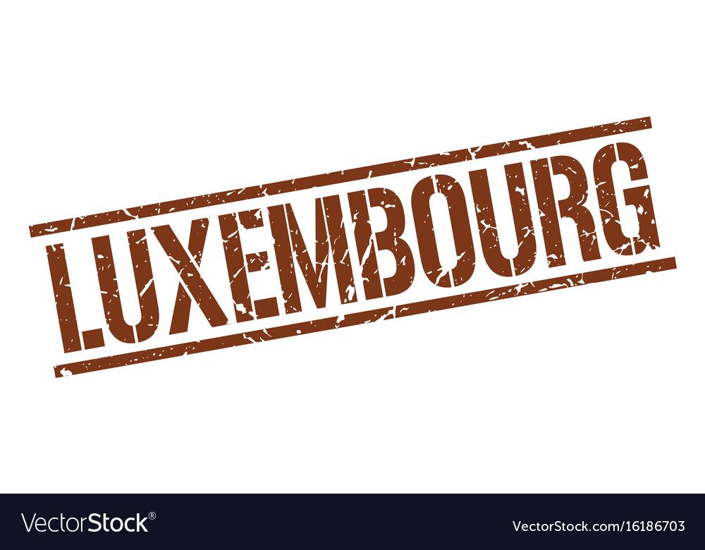 Luxembourg brown square stamp