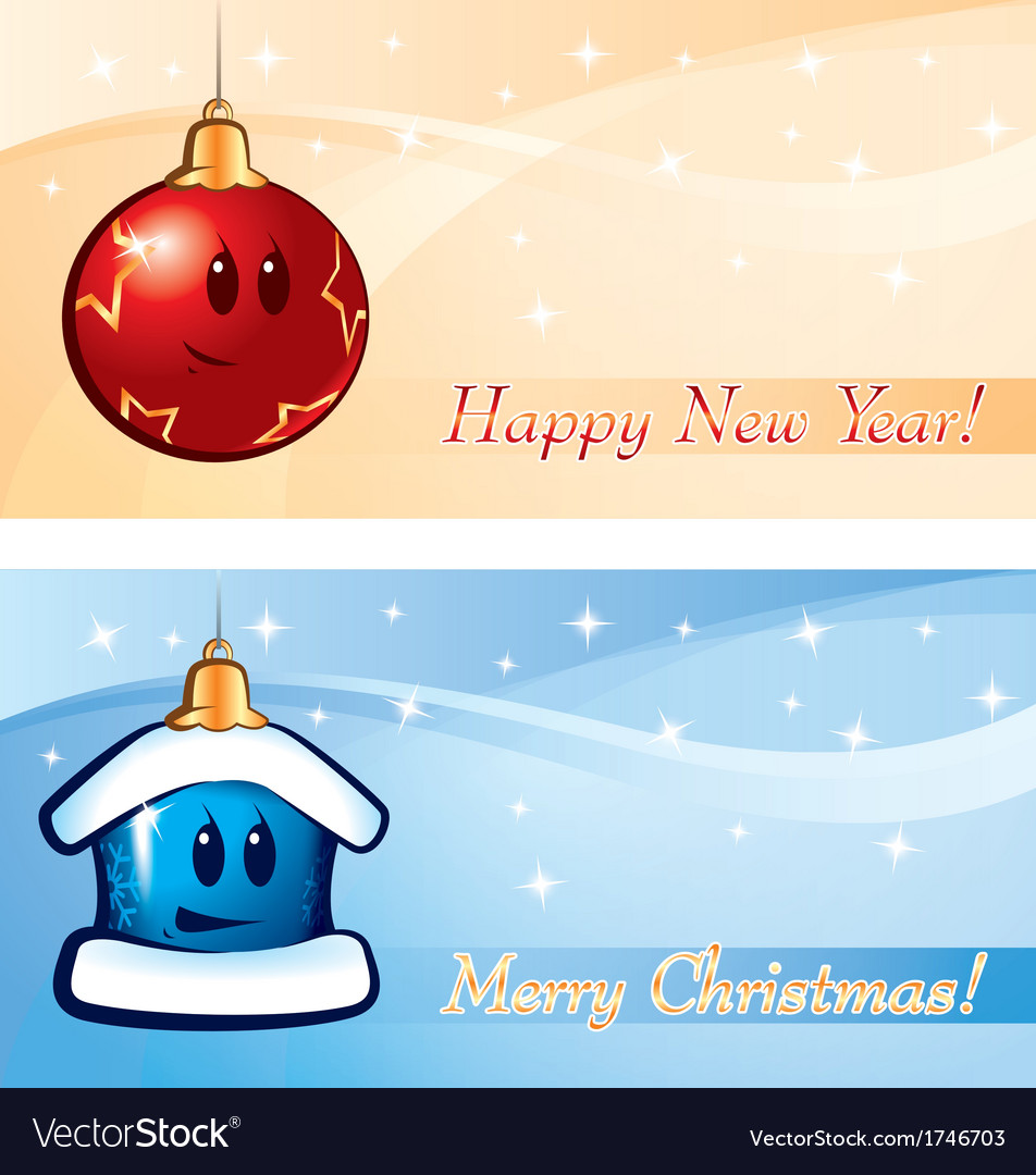 New Year Xmas Greeting card