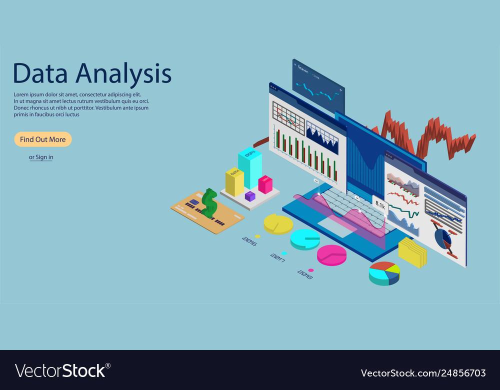 Online statistics and data analytics concept banne