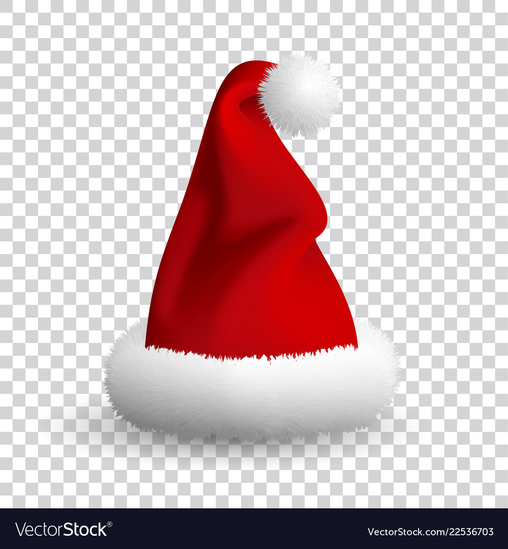 Santa claus hat isolated on white background Vector Image 2295987c96b4