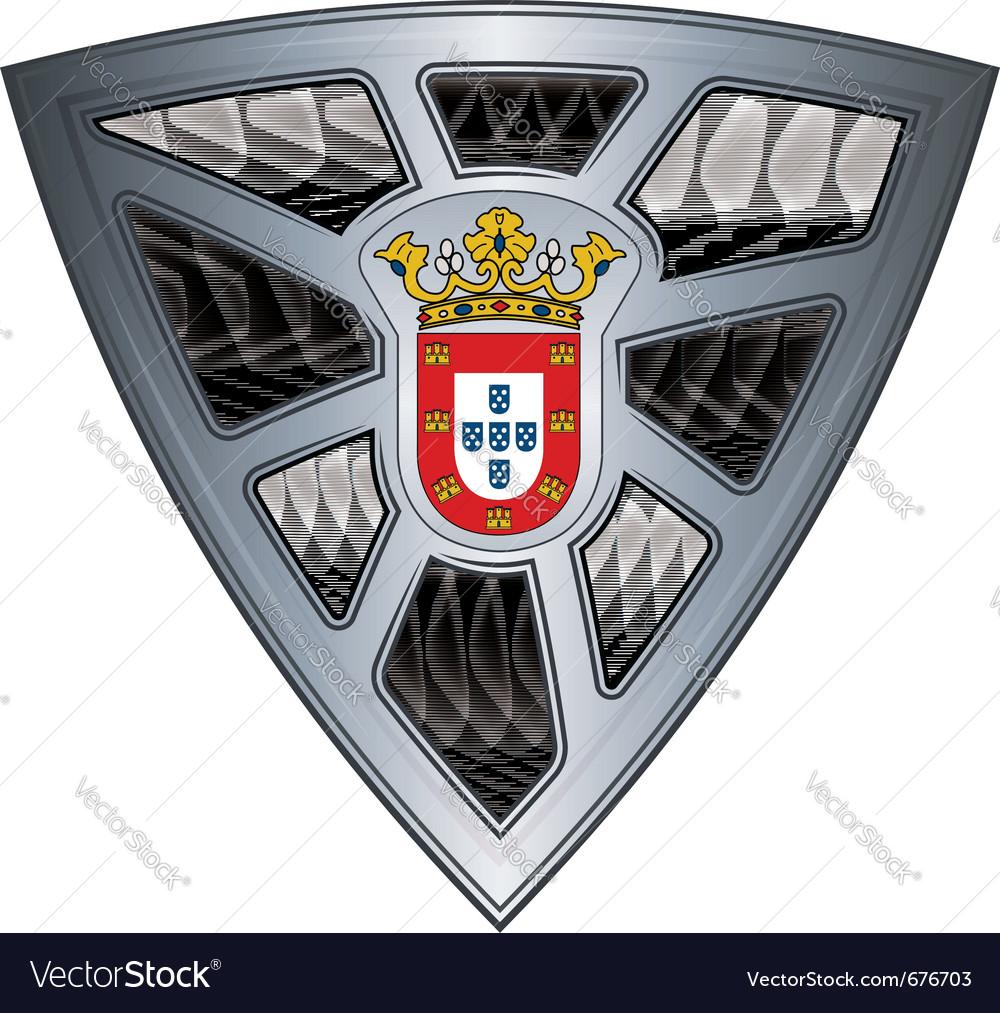 Steel shield ceuta vector image