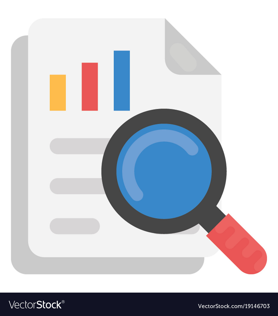 survey report flat icon royalty free vector image