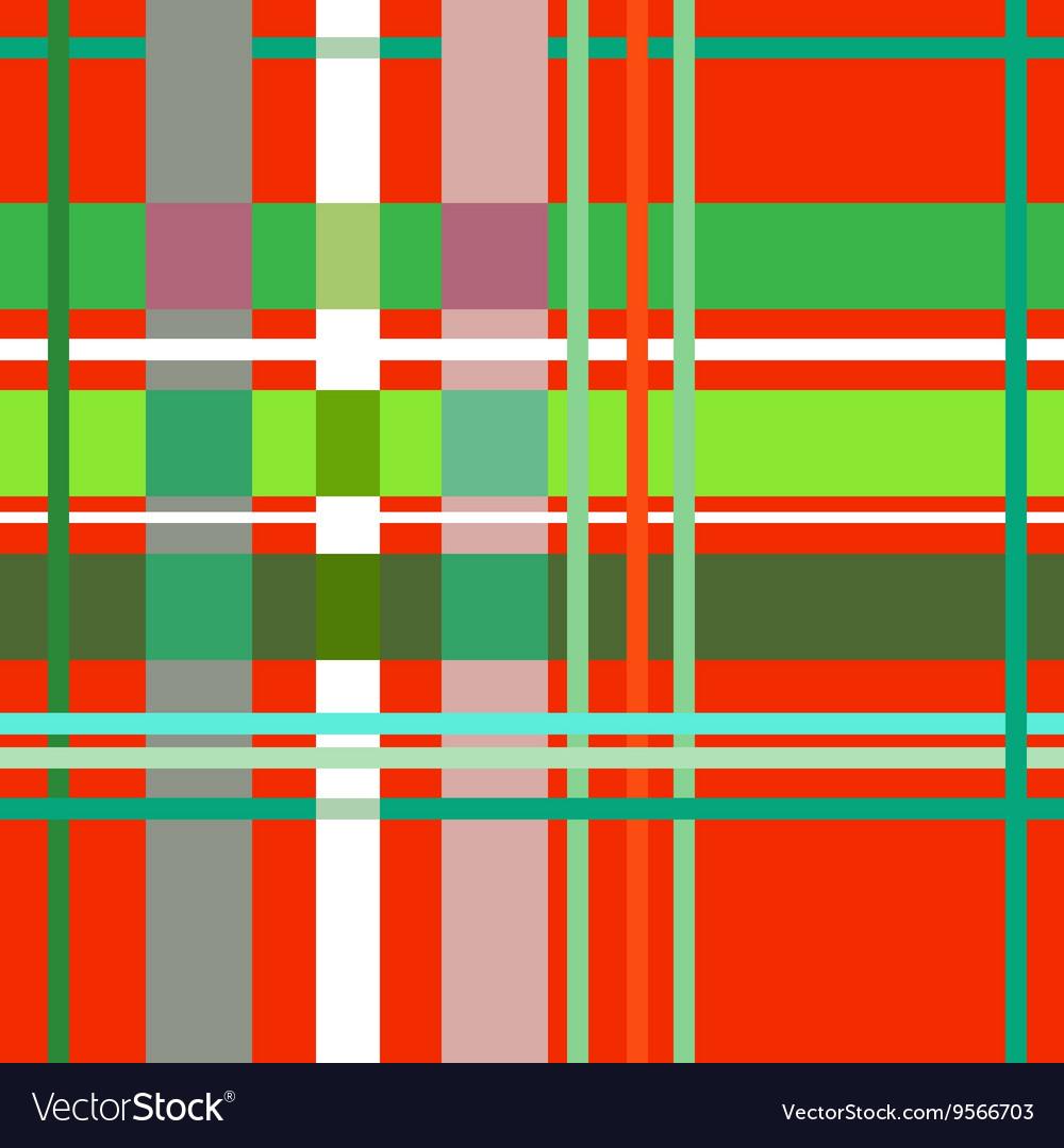 Tartan red seamless pattern vector image