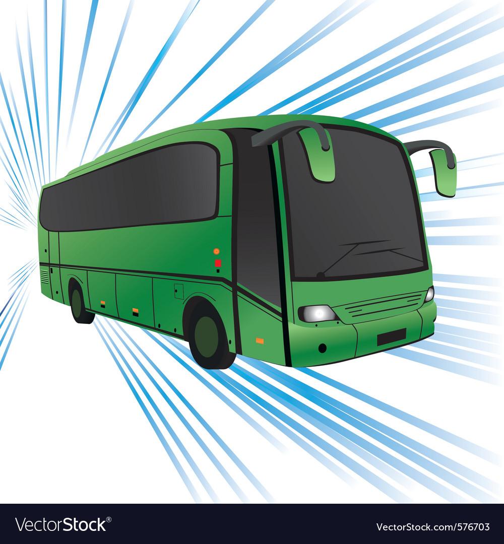 Tour bus vector image