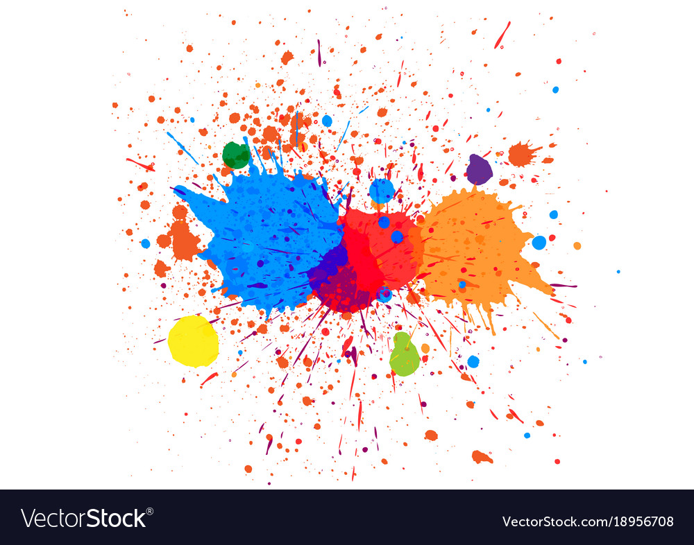 Abstract splatter color background design