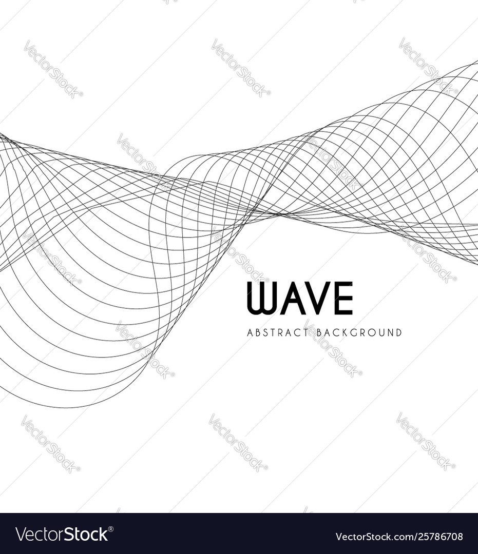 Abstract waves from lines blend design