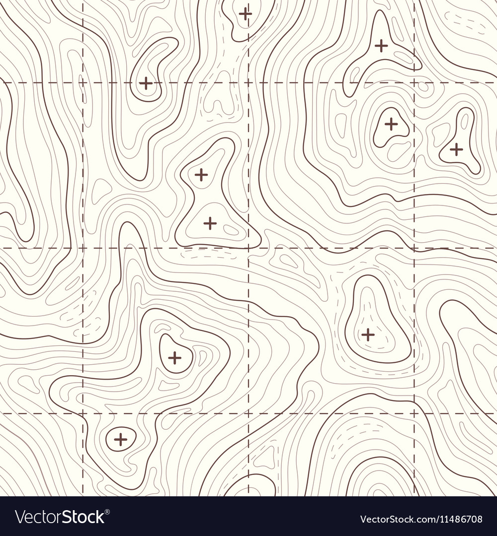 Contour elevation topographic seamless map