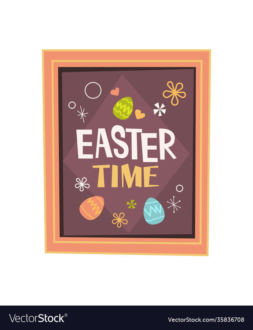 Happy easter spring holiday celebration greeting