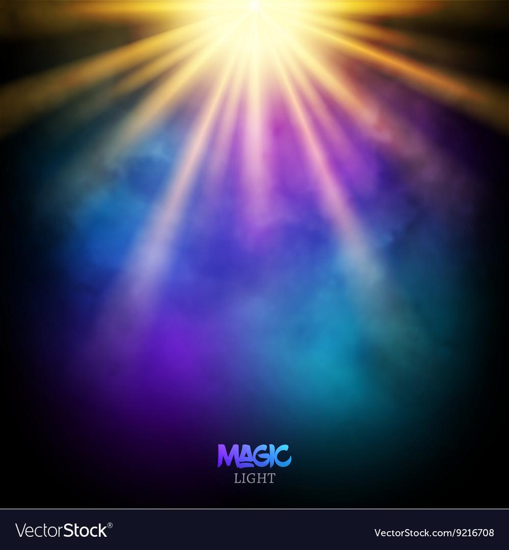 Magic background design magic lights