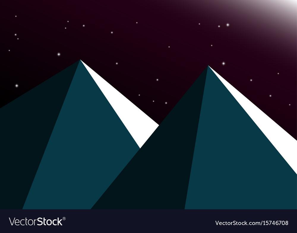 Moon night mountain background