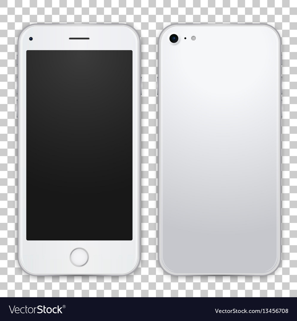 Smartphone template front and black view