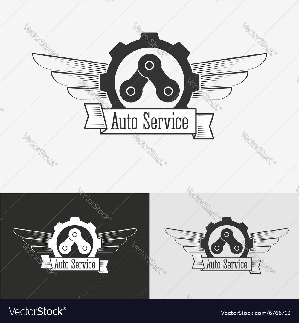 Auto logo design template