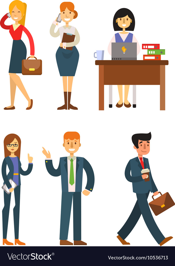 Business people set vector image