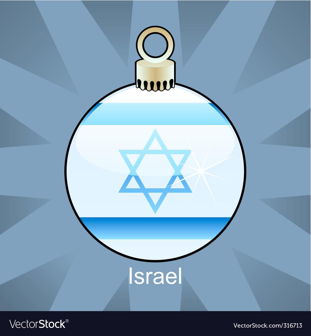 Israel bulb vector image