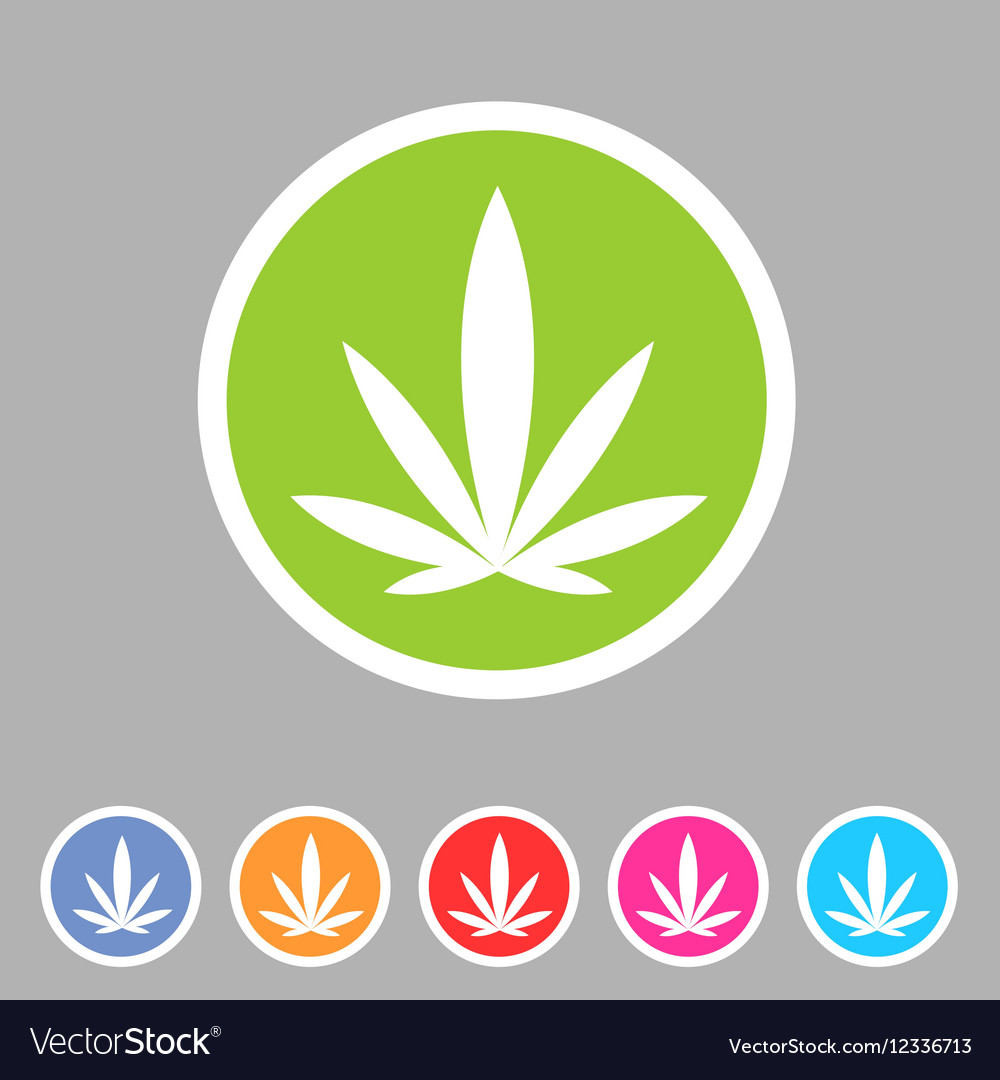 Marijuana cannabis icon flat web sign symbol logo