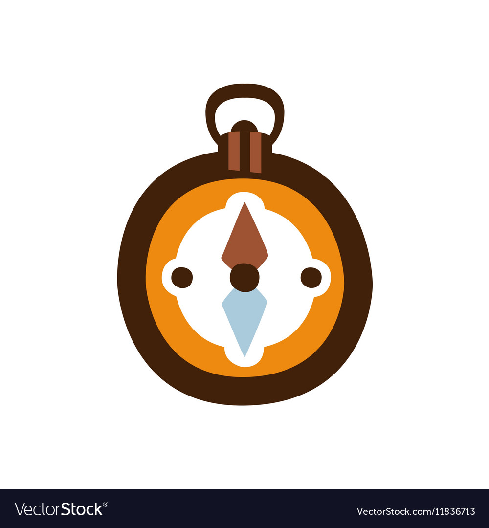Pocket Magnetic Compass Camping And Hiking vector image