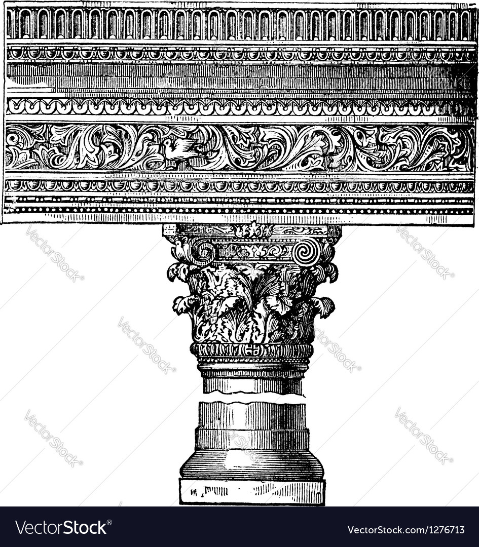 Saint John Church Pillar vector image