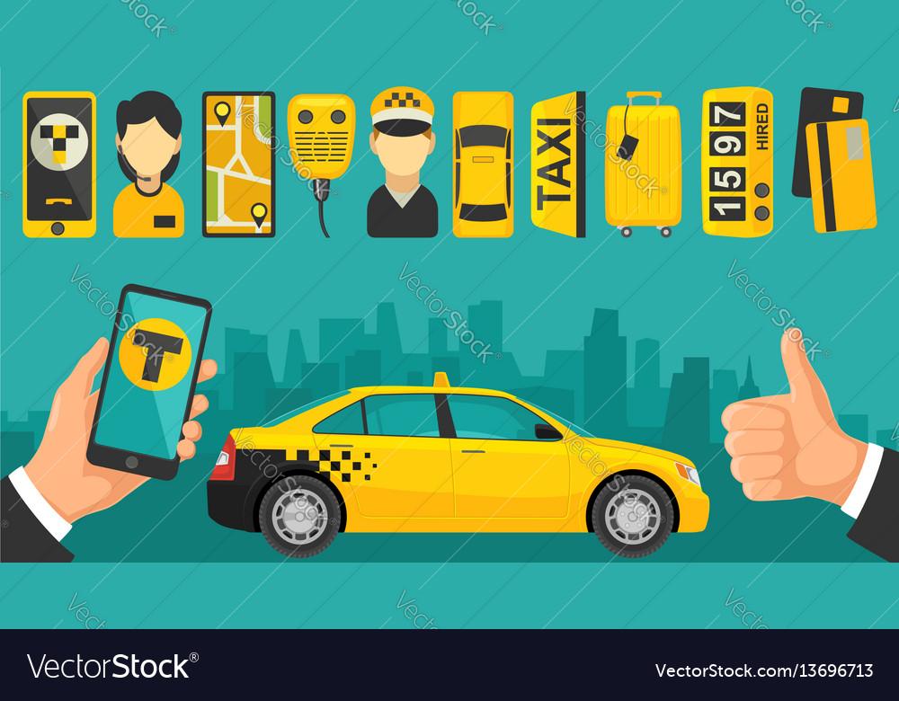 Taxi drive service icon