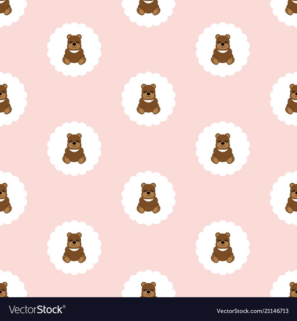 Teddy bear baby seamless