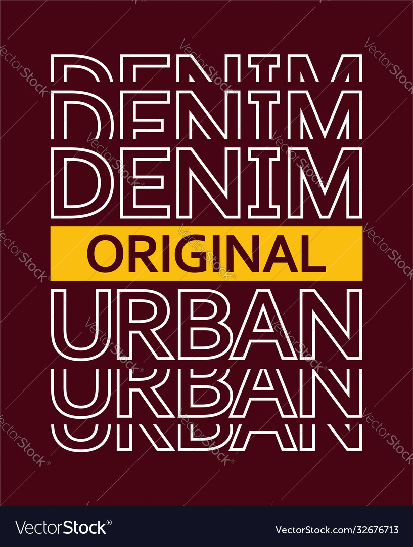 Typography denim