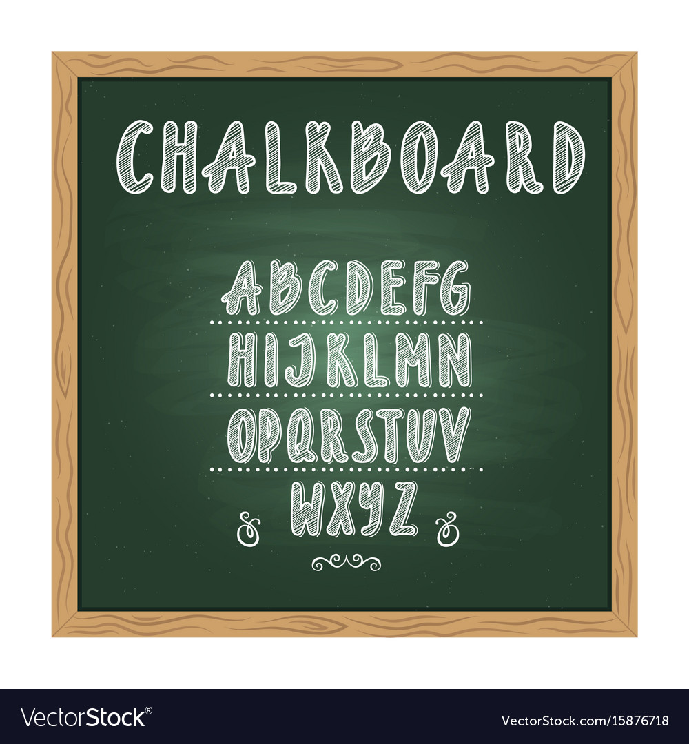Antique child school chalkboard with green texture