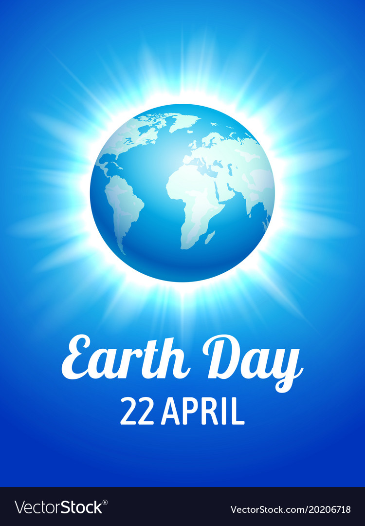 Earth day blue poster