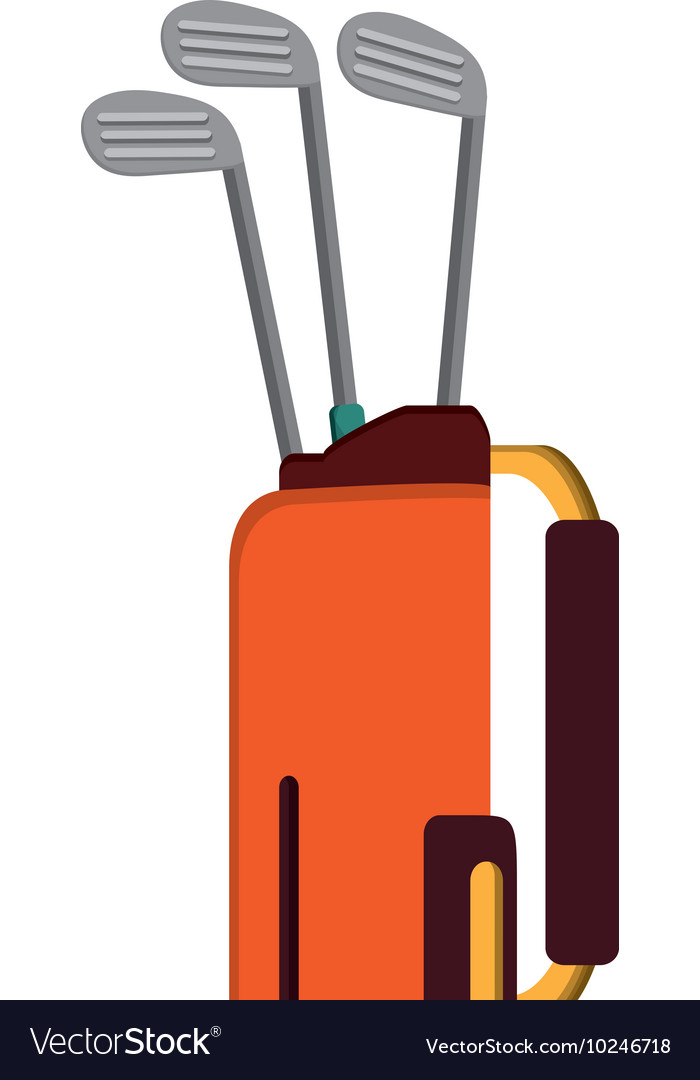 Golf bag with clubs icon