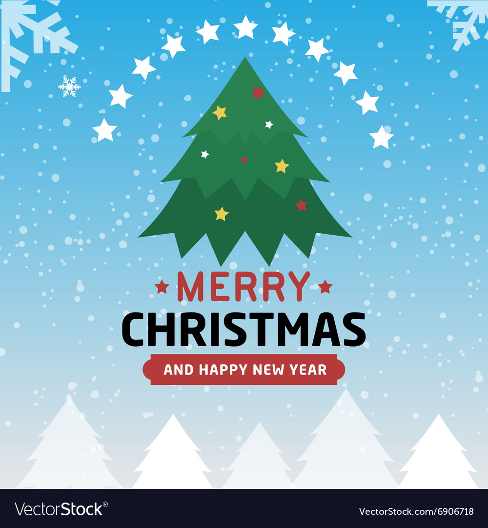 Merry christmas and happy new year type font