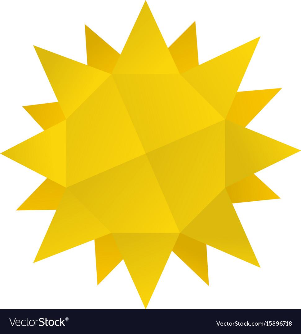 Origami Sun Icon Cartoon Style Royalty Free Vector Image