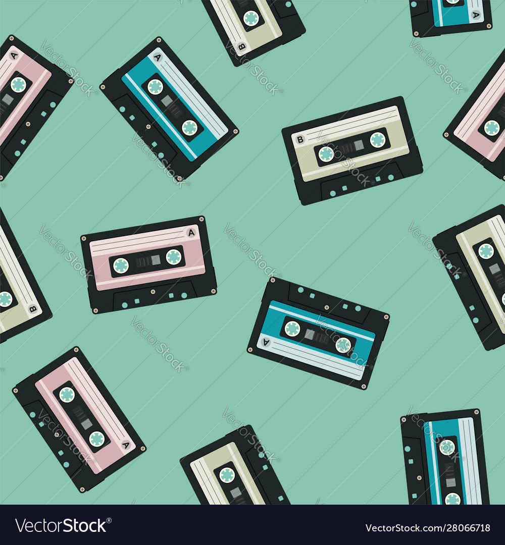 Seamless audio cassettes background