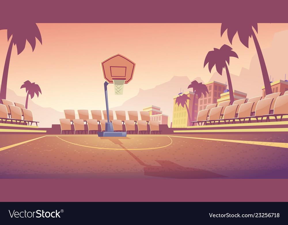 Street basketball court outdoor stadium