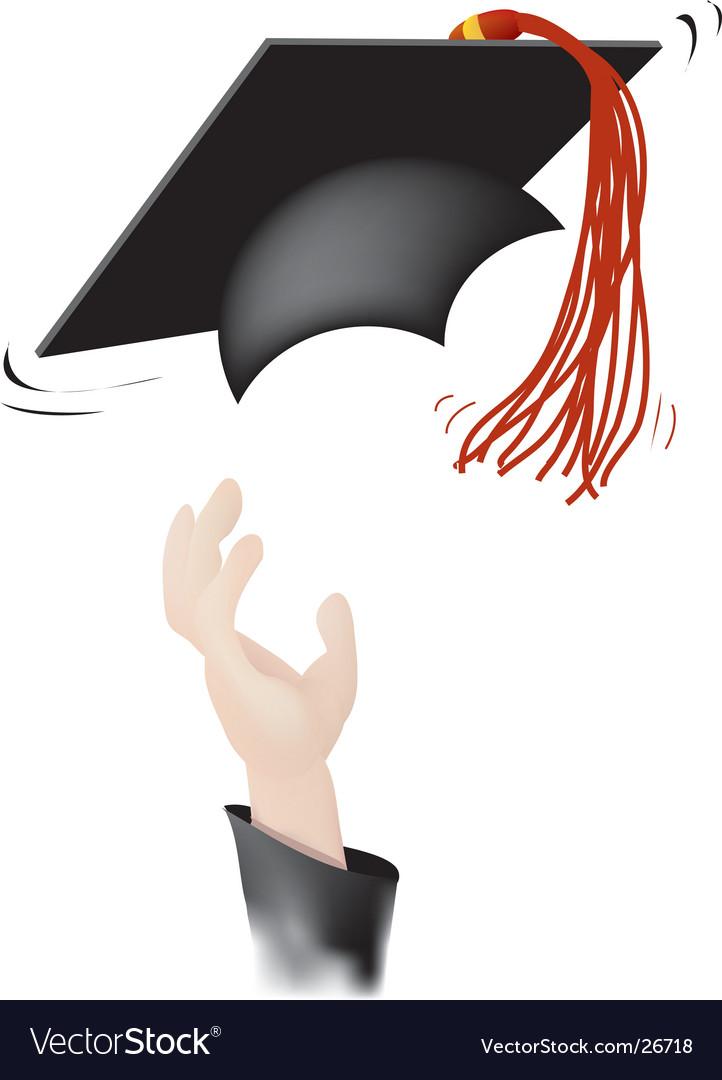 Tossing the graduation cap