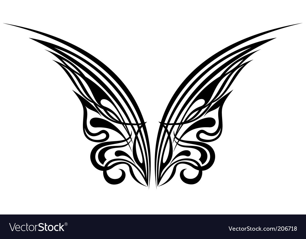depends on how you will be presenting the wings on your tattoo design. Wings Tattoo Design Elements Vector. Artist: galina; File type: Vector EPS