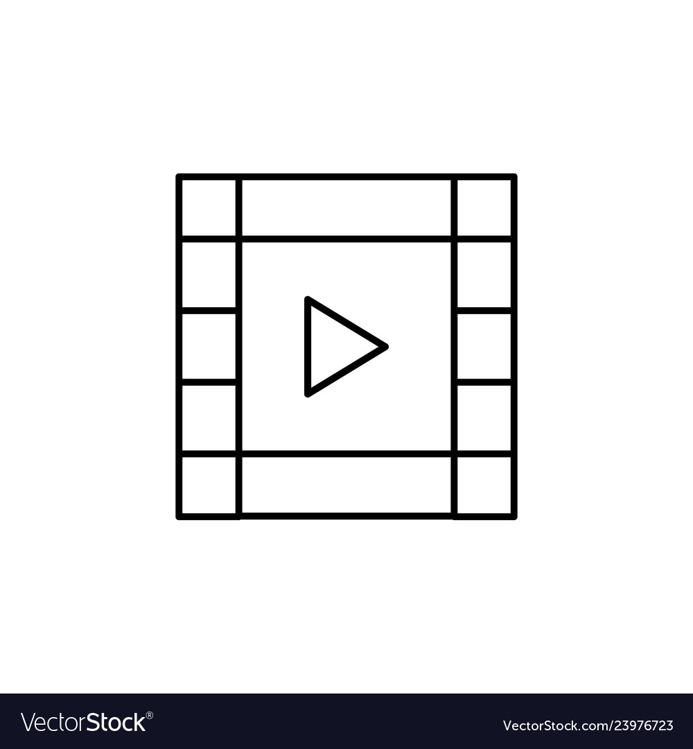 Film video strip outline icon signs and symbols