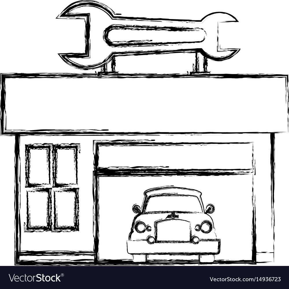 Garage Door Mechanic Royalty Free Vector Image
