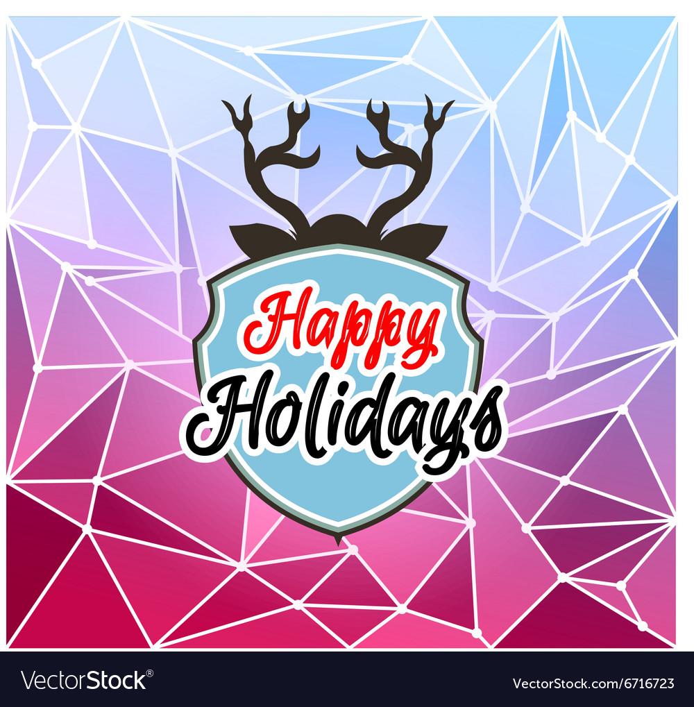 Happy Holiday and Merry Christmas Seasonal