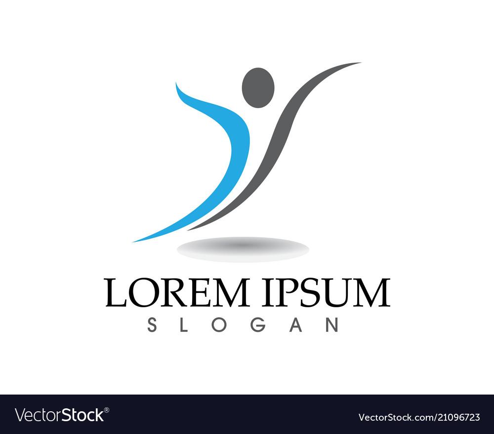 Health success people care logo and symbols