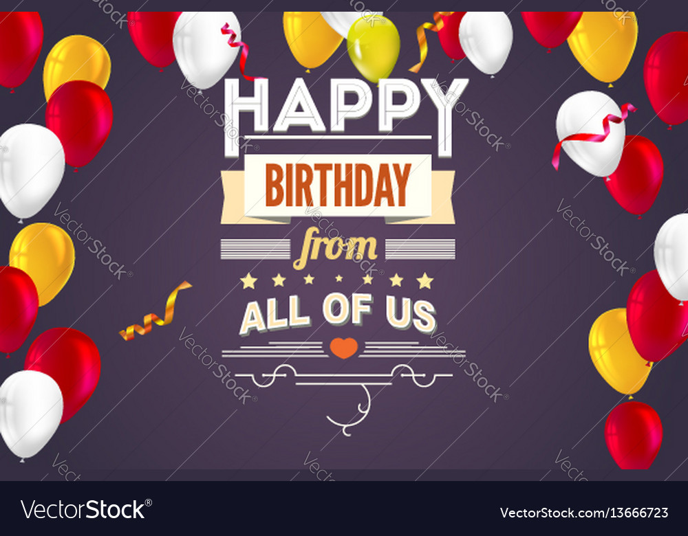 Stylish greetings happy birthday creative card