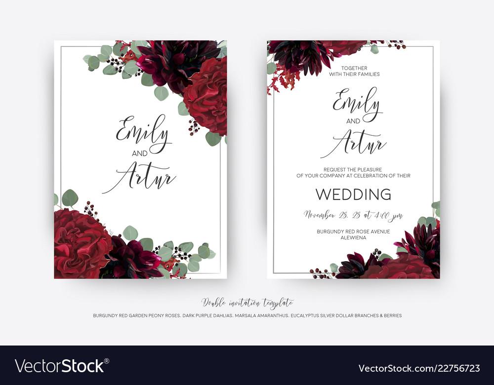 Wedding floral invite invitation card design