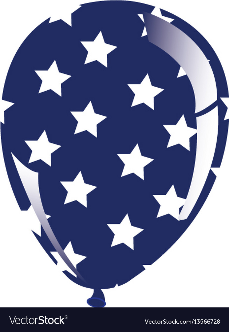Balloon with stars independece day icon