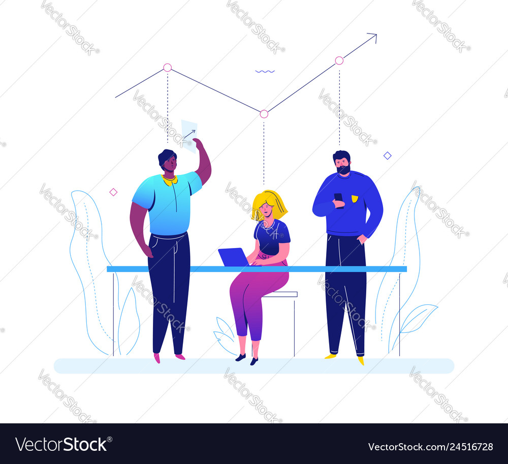 Business analysis - flat design style colorful
